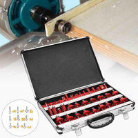 35Pcs Router Bit Set 1 4 Shank Tungsten Carbide Tip Router Woodworking Tool With Carrying Case