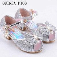 Neue Kinder Prinzessin Perle Perlen Sandalen Kinder Blume Hochzeit Schuhe High Heels Abendschuhe Party Schuhe Für Mädchen Rosa GUINEA P