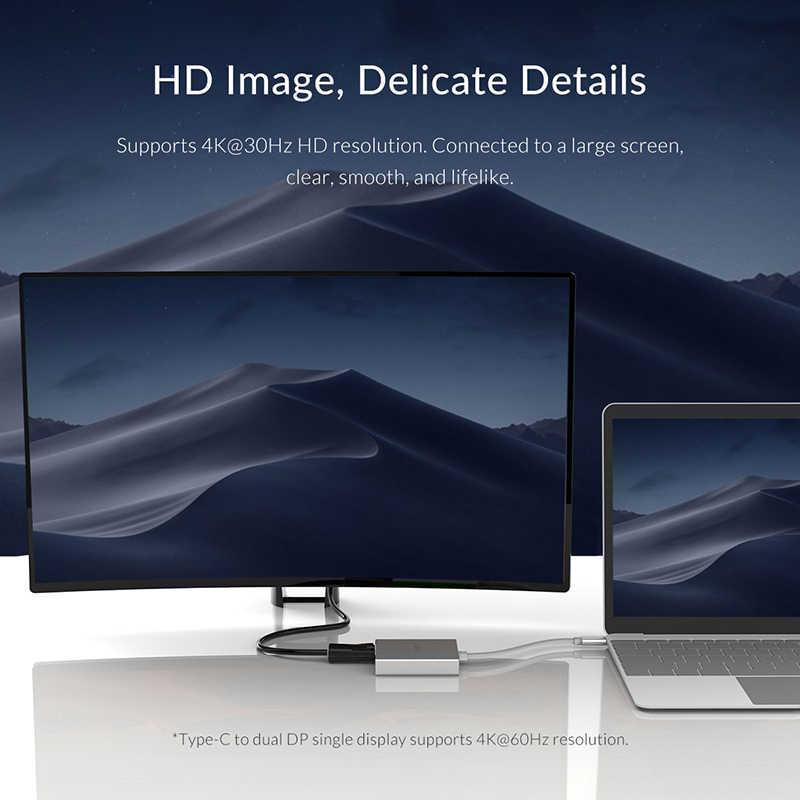 オリコタイプ C デュアル DP 4 18K HD 解像度ビデオケーブルラップトップ Pc タブレットプロジェクター HD オーディオ変換ケーブル