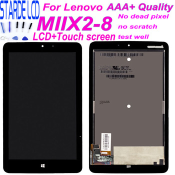 8 Display for Lenovo Miix2 Miix 2 8 MIIX2-8 LCD Display Matrix Touch Screen Digitizer Sensor Tablet PC Assembly + Free Tools 8 inch for huawei mediapad t1 8 0 s8 701u lcd display touch screen digitizer sensor full assembly tablet pc replacement parts