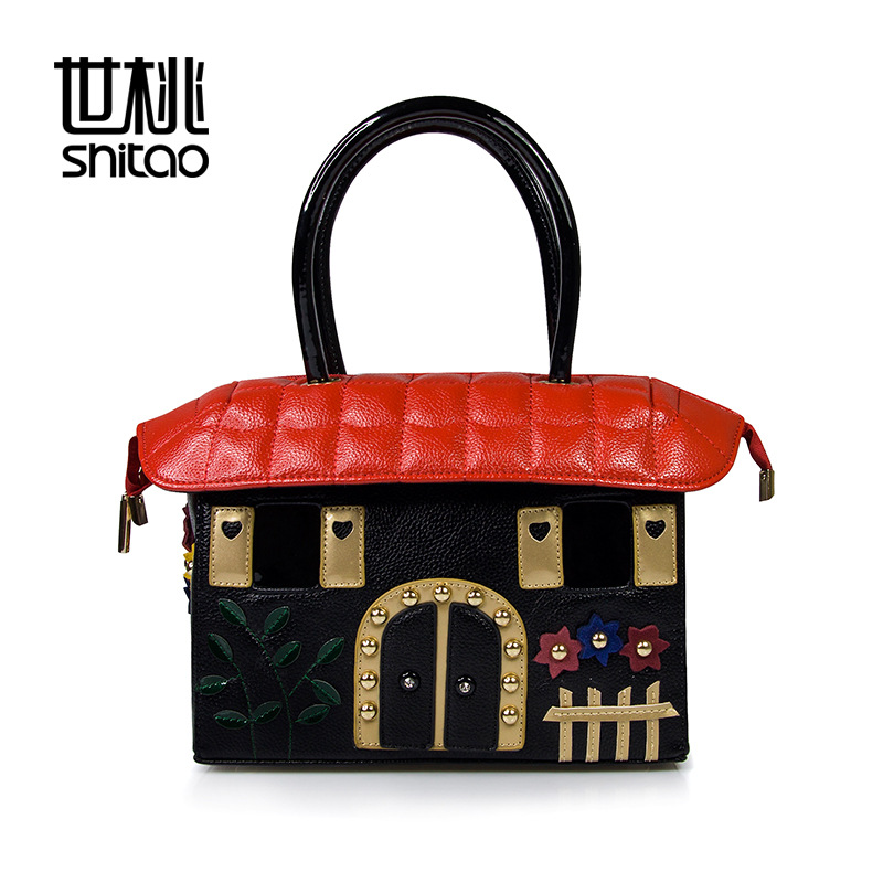 Handbags Fashion Small House Color Three-dimensional Portable Shoulder Bag Diagonal Handbags fashion house