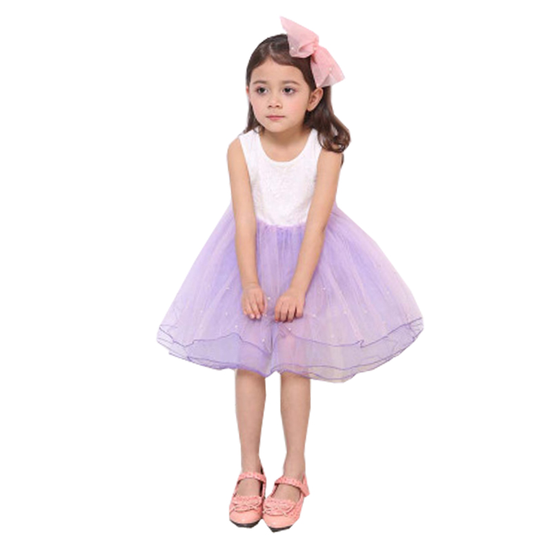 Lace Flower Girls Dress New Summer Children Princess Clothing Sleeveless Kids Party Dresses 2 3 4 5 6 7 8 9 Year Girl Clothes girls lace dress princess toddler clothes baby girl new year costume sweet summer 2017 kids flower children clothing 3 4 6 8 11y