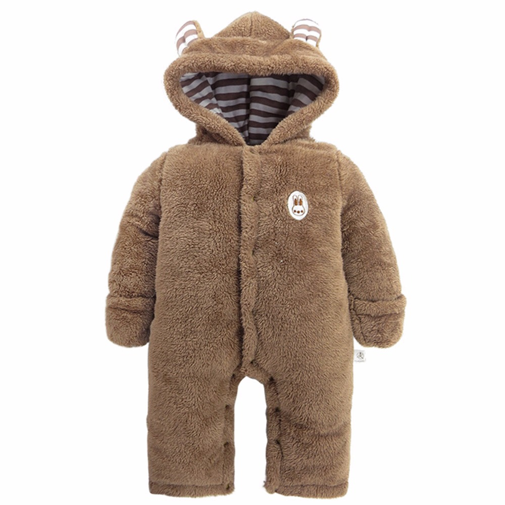 Baby Boys Bear Romper Newborn Winter Jumpsuit Infant Long Sleeve Outfit Bebe Clothing for New Years baby clothing summer infant newborn baby romper short sleeve girl boys jumpsuit new born baby clothes