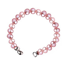 2019 YKNRBPH Hot Sale Round Pearl Bracelet Women's Freshwater Pearl 7-8mm S925 Sterling Fashion Bracelets Fine Jewelry
