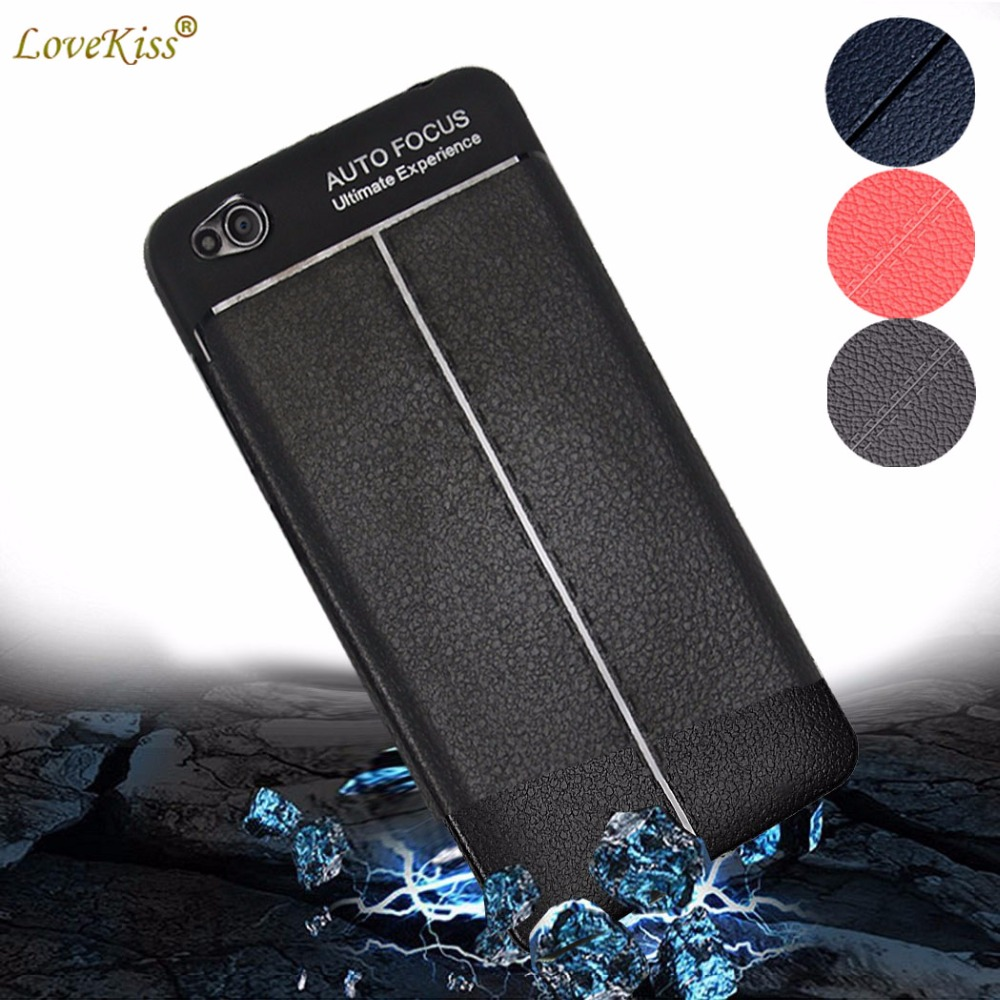 5.5 Q6a Q6 Plus Cases Silicone Leather Grain Phone Bag For LG ...
