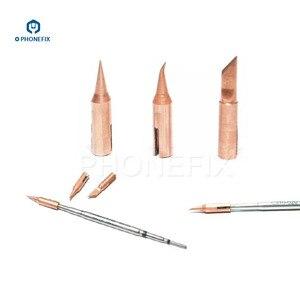Image 4 - PHONEFIX JBC T210 lutownica żelazne wiertło T SK T I T IS stożkowy nóż wygięty stożkowy specjalistyczny wymienny mała końcówka do spawania końcówka
