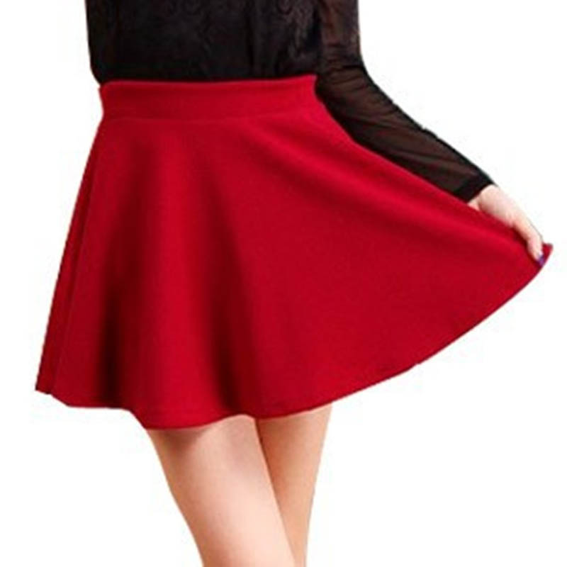 2015 Hot Women Bust Shorts Skirt Pants Pleated Plus Size Fashion Candy Color Skirts 9 Colors C718 2