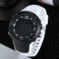 New arrival OHSEN brand fashion LCD Digital Mens watch rubber band 50M waterproof white big dial sports military wristwatches