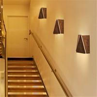 Простой Стиль деревянные настенные бра современный светодиодный настенный светильник творческий Спальня прикроватные тумбочки, настенны