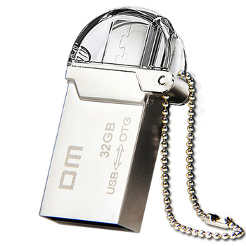 DM PD008 OTG USB 100% 32G 16G 8G USB Flash Drives Smartphone Pen Drive Micro USB Portable Storage Memory Metal USB Stick Free