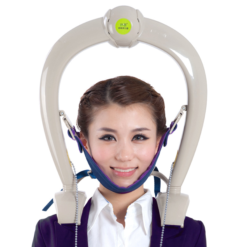 Cervical Neck Traction Neck Support Brace Pillow Massager Relax Tight Muscles Headaches Tension Head Shoulder Stiffness