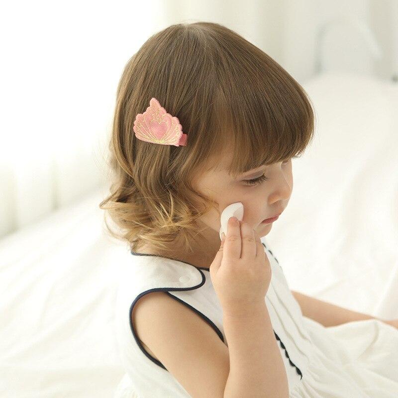 10pcs / lot hoge kwaliteit borduurwerk kroon haarspeldjes baby - Babykleding - Foto 2