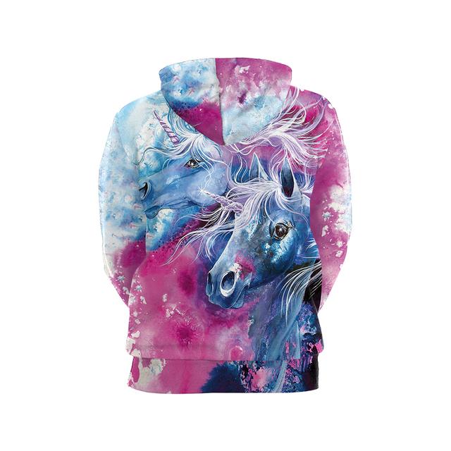 Watercolor Unicorn 3D Printed Women's Hoodie