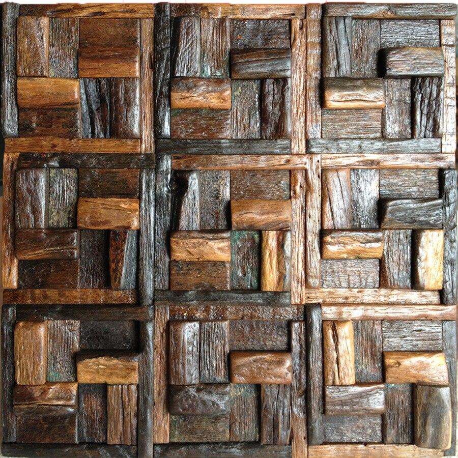 wood art tstawt018 wooden tiles chocolate chestnut vintage style
