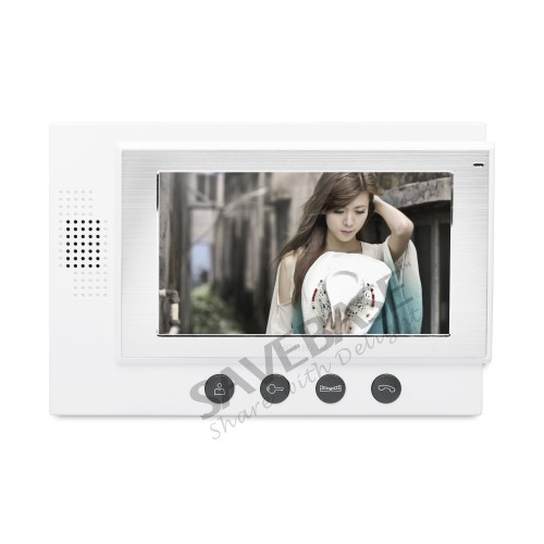 HOMSECUR 7 Video Door Phone Intercom System+Outdoor Monitoring for Apartment: TC021-B Camera (Black)+TM701-W Monitor (White)