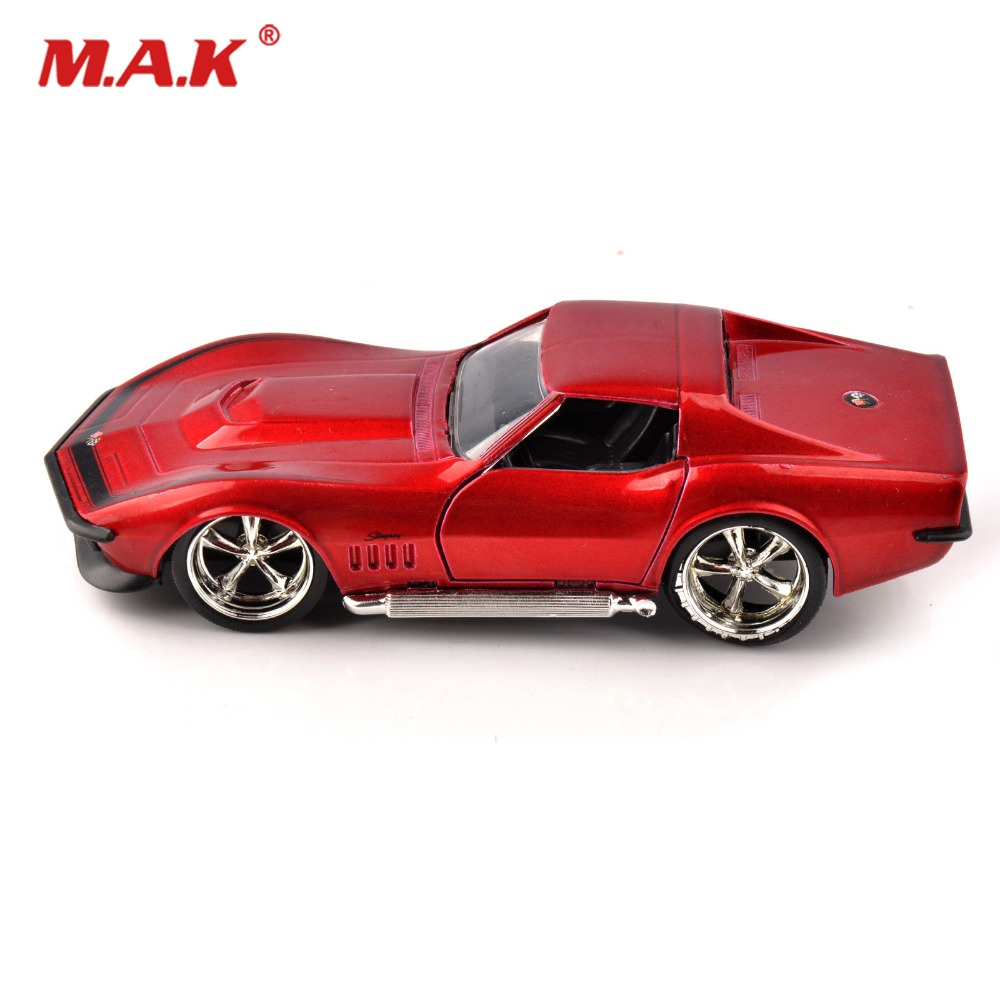 1969 Corvette Diecast 1/32TH Simulation StingRay ZL-1 Red Car JADA TOYS 9851 Toys Collection Hobbies Model Toy Kids Gift ...