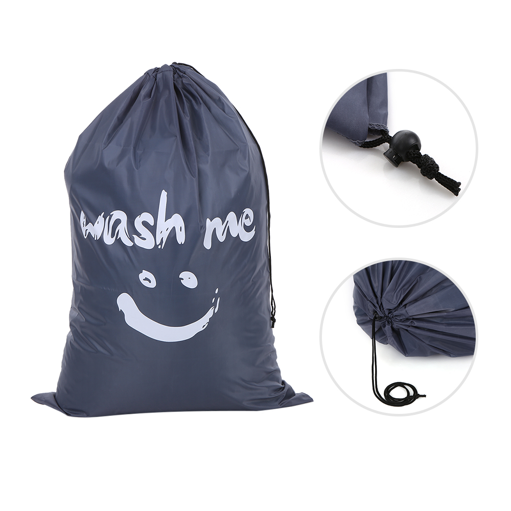 Image 5 - Organizer Bag Large Foldable Nylon Laundry Bag Dirty Clothes Storage Bag with Drawstring Closure for Home Laundromat Travel Bag-in Foldable Storage Bags from Home & Garden