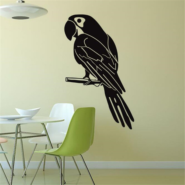 Idfiaf Creative Home Decoration Parrot Wall Stickers Living Room Vinyl Adhesive Decals Animals Decor