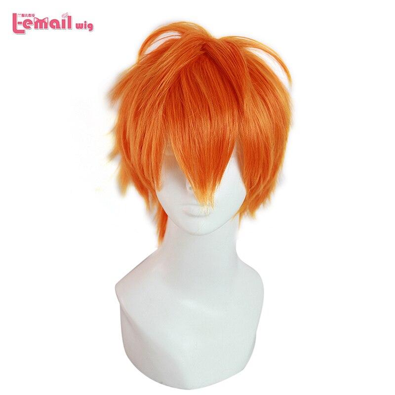L-email Wig Haikyuu Hinata Shoyo And Sugawara Koushi Cosplay Wigs 25cm Heat Resistant Short Synthetic Hair Perucas Cosplay Wig
