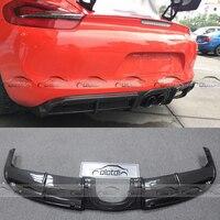 Carbon Fiber GT4 Rear Diffuser Bumper Lip Fits For Porsche Cayman Boxster 981