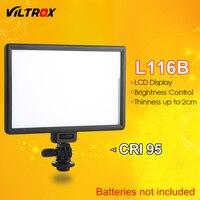 Viltrox L116B Camera Super Slim LCD Display Dimmable Studio LED Video Light Lamp Panel for Camera DV Camcorder DSLR Photo