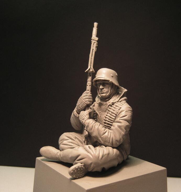 1:16 resin figures WW2 german soldiers kits historical figures unpainted unassembled Free shipping 156G 1 35 resin model kit ww2 tank soldiers figures only two soldiers unpainted and unassembled free shipping 288g