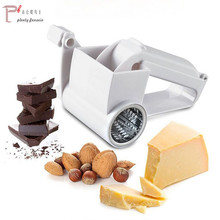 Plastic Hand-Cranked Cheese butter Grater mill Rotary Ginger Slicer Cutter for Chocolate with Stainless Steel Drum
