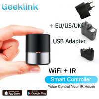 Geeklink Smart WIFI+IR Control APP/Siri Remote Control AC TV Smart Controller for USA Alexa USA Google Home with US EU UK Adapte