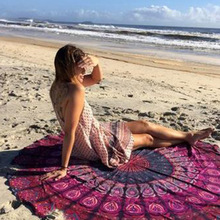 7 Styles Colorful Circle Round Chiffon Beach Cover Up Large Kids Women Men Printed Living Room Mat Summer Travel Blanket