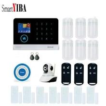 SmartYIBA Touch Keypad GSM SMS RFID Android IOS APP Wireless WIFI Home Burglar Alarm System Video IP Camera Wireless Siren