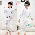 Retail 2014 new children's sleepwear,boys and girls cotton 2 pcs set Underwear set,kids cute Cartoon Warm Pajamas set