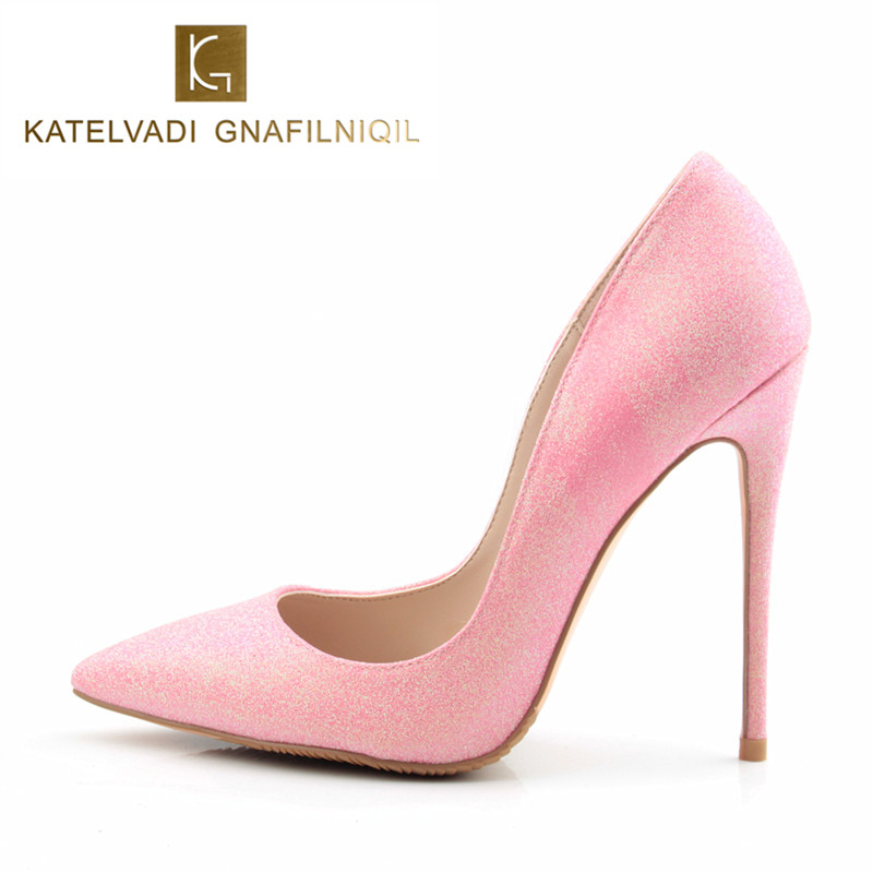 Women Pumps Super High Heels Pink Shoes Woman Pointed Toe Stiletto Womens Heels Wedding Shoes Sexy High Heel Shoes Women K-042 цена 2017