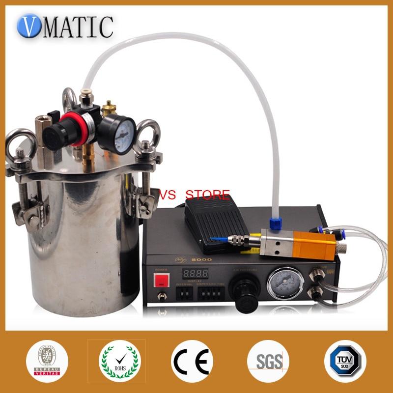 Бесплатная доставка автоматический дозатор и наперсток Стиль клапан 5L нержавеющая сталь бак давления дозирования жидкости оборудования