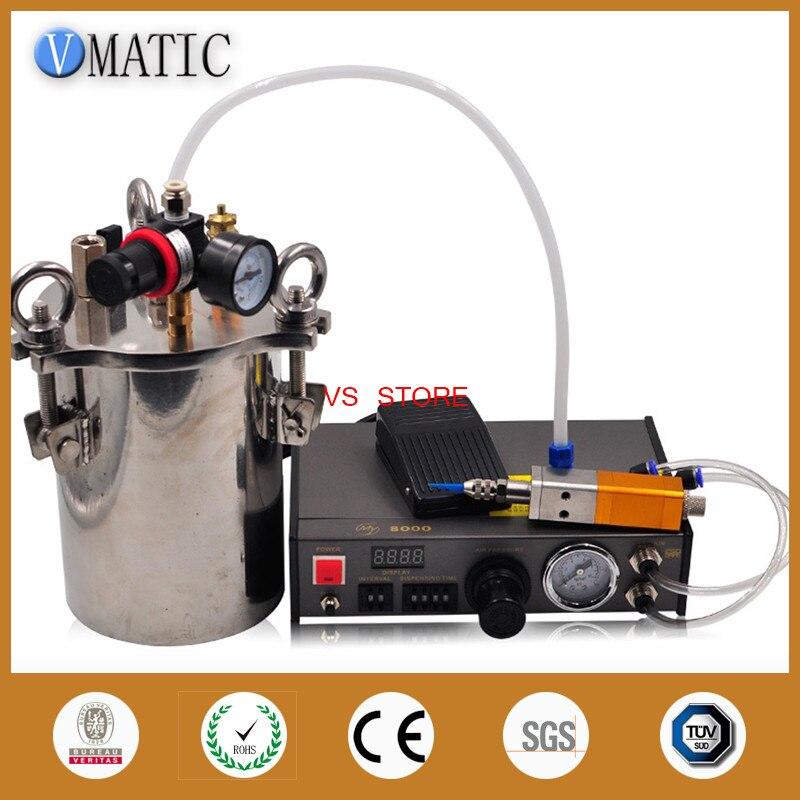 Dispenser Automatico di Trasporto libero & Ditale Stile Della Valvola e Valvola di 5L A Pressione In Acciaio Inox Serbatoio Liquido Erogazione Attrezzature