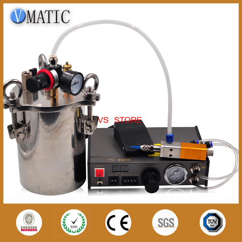 Free Shipping Automatic Dispenser Thimble Style Valve 5L Stainless Steel Pressure Tank Liquid Dispensing Equipment