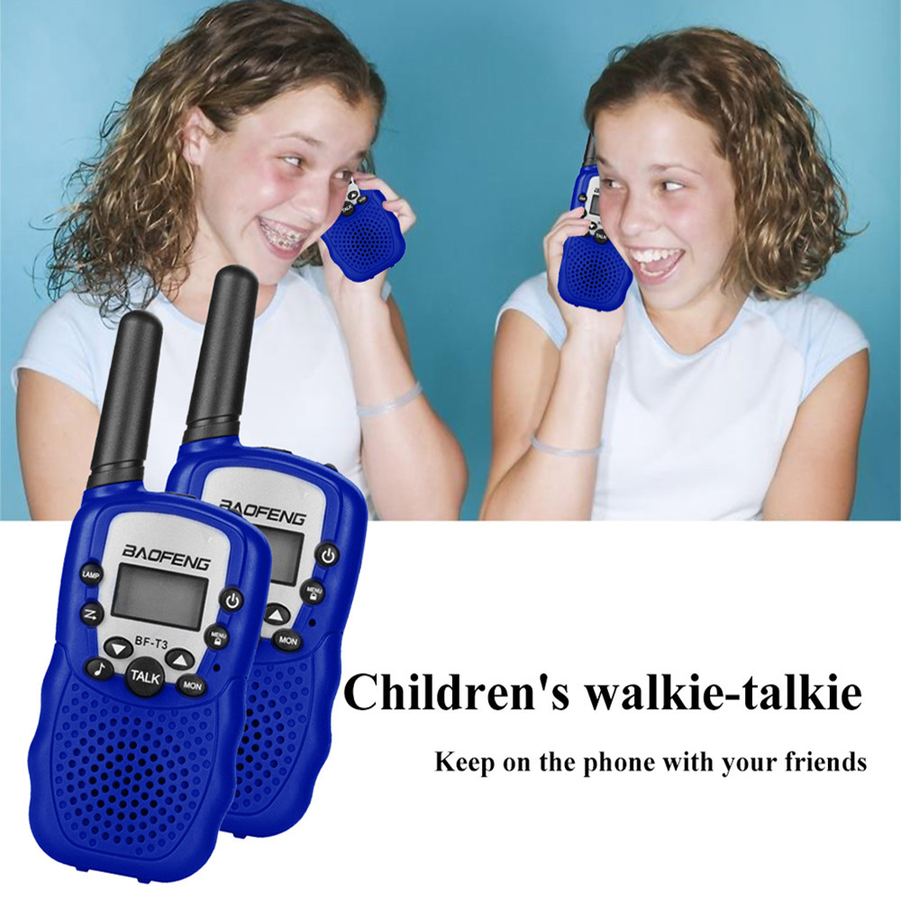 1PC <font><b>BF</b></font>-T3 Mini <font><b>Children</b></font> Walkie Talkie Portable Electronic Toys 10 Call Tones Radio Transceiver Toy with Fflashlight Function image