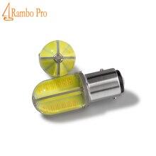 Car styling 2 PCS p21w 1156 ba15s 8 COB 360 degrees LED car tail bulb brake light auto reverse lamp drl fog lights 12v