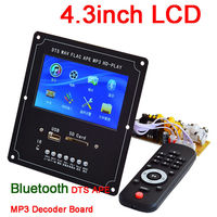 DYKB digital LCD Bluetooth 4.2Audio Video Audio Decoder Board DTS FLAC APE MP3 MP4 MP5 Player Lossless for Car Amplifier Speaker
