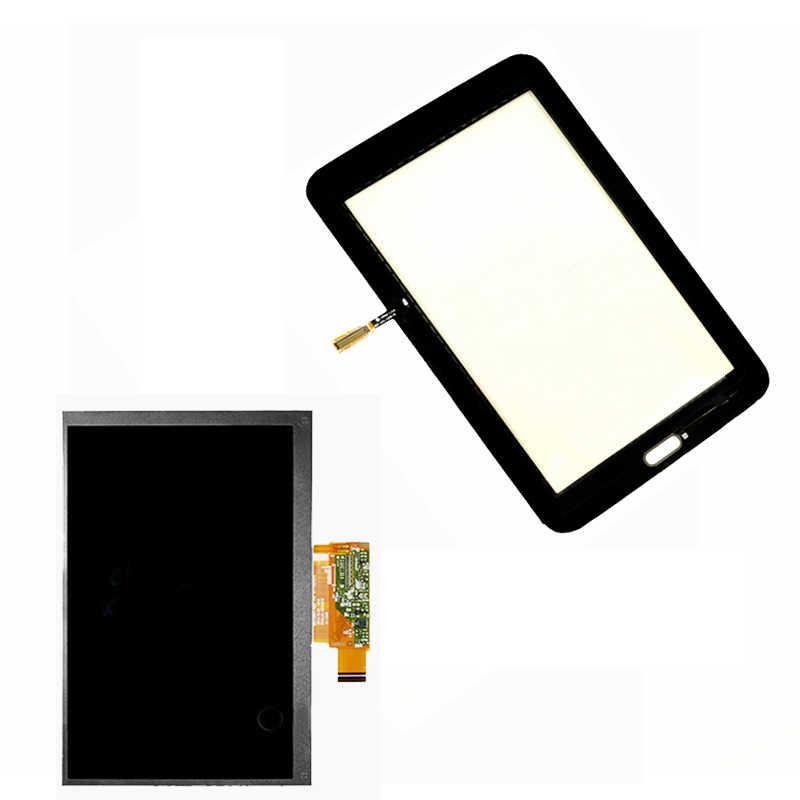 Samsung Galaxy Tab 3 Lite 7.0 için T113 SM-T113 lcd ekran paneli ekran monitör modülü + dokunmatik ekran digitizer cam sensörü