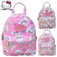 Kawaii Cartoon Pink Hello Kitty Backpacks Waterproof Girls Small Bags Children Schoolbag Kids Shoulder Gifts Good Quality(China)