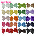 20PC 6Inch Hair clip 20 Color Grosgrain Ribbon Hair Bows Baby headbands Baby girl Hair Accessories horquillas de pelo infantiles