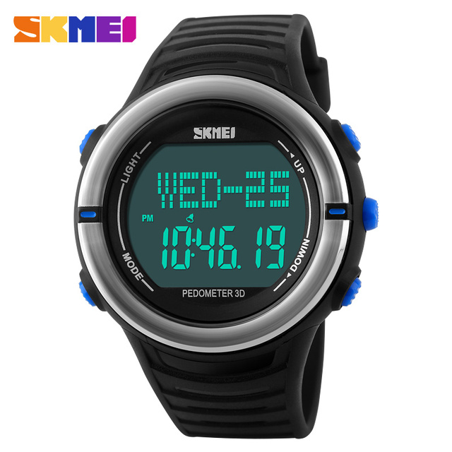 Pedometer Heart Rate Monitor Calories Counter Digital Watch Fitness For Men Women Outdoor Wristwatches Skmei Sports Watches
