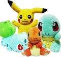 Pokemon Pikachu Brinquedo de Pelúcia & Bulbasaur & Tartaruga Squirtle & Charmander Stuffed Anime Boneca de Brinquedo de Pelúcia Presentes de Aniversário Para Crianças