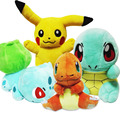 Pokemon Plush Toy Pikachu & Bulbasaur & Squirtle & Charmander Stuffed Anime Turtle Plush Doll Toy Birthday Gifts For Children