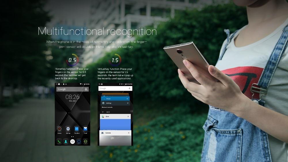 DOOGEE F5 5.5 אינץ אנדרואיד 5.1 MTK6753 נייד טלפון אוקטה Core זיכרון RAM 3GB+ROM 16GB טלפון סלולרי 13.0 MP 1920*1080 4G LTE זיהוי טביעת אצבע