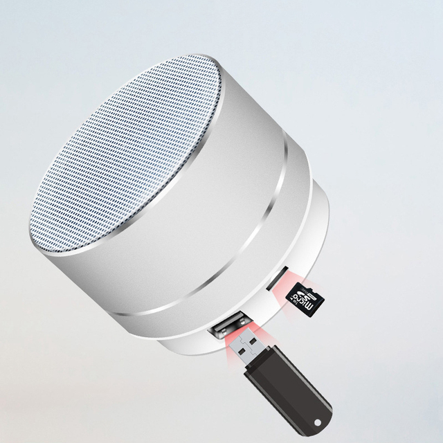 Rechargeable Portable Bluetooth Speaker Mini Speaker Music Audio TF USB AUX Stereo Sound Speaker Audio Music Player 2