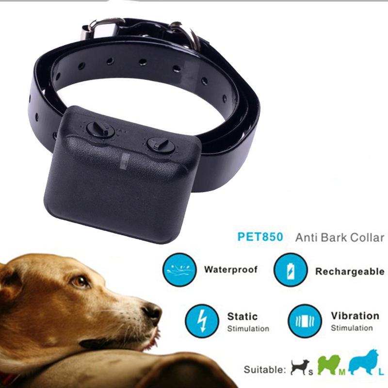 цены PRET-850 Dog Pet Training Collar Anti Bark Rechargeable Waterproof Vibration Shock Collar Electric Dog Training Collar