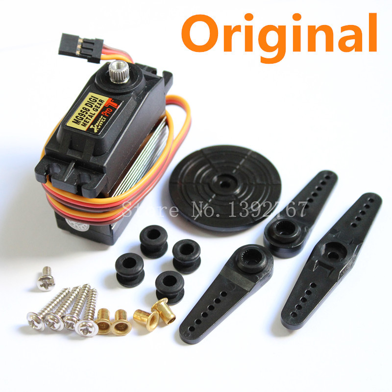 4 pcs Alta Torque RC Servo 15 kg Torre de Engrenagem de Metal Digital Pro MG958 Padrão Metallgetriebe Auto Monster Truck 1/5 Baja