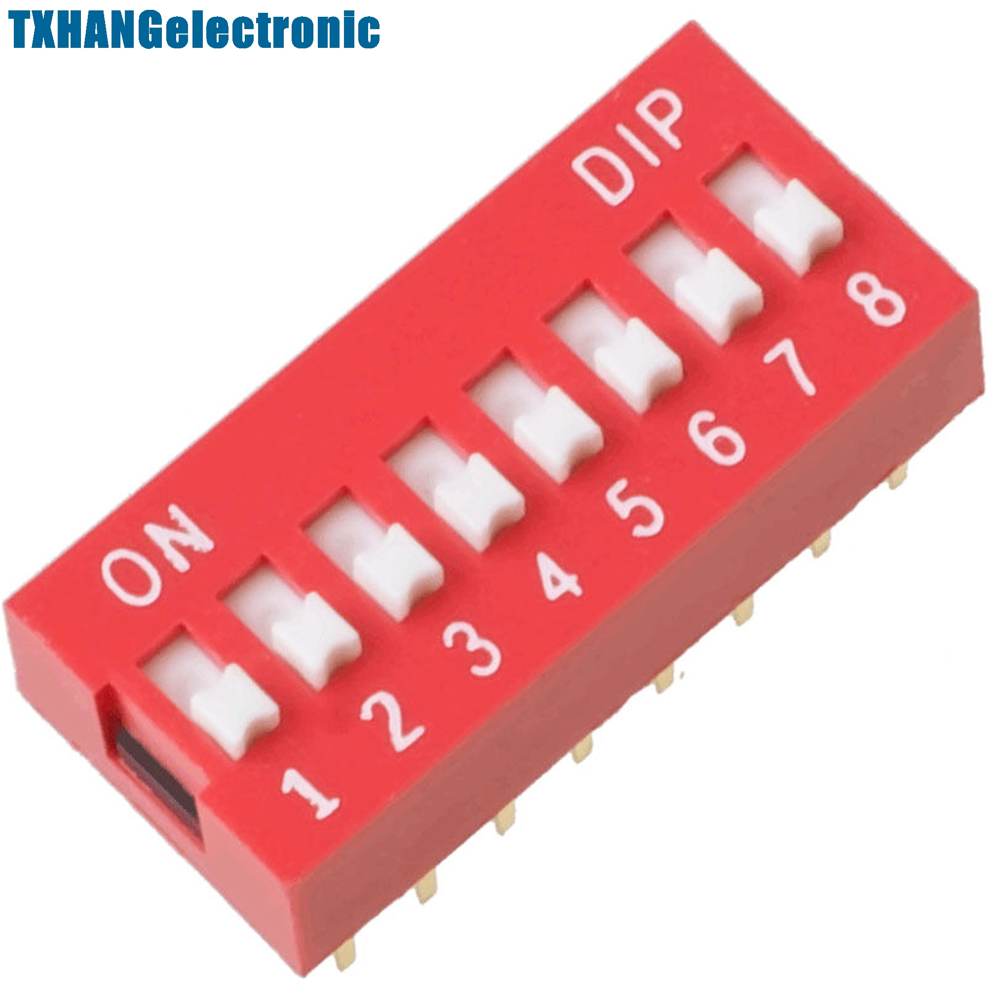 Useful 20pcs Slide Type Switch Module 2.54mm 5-bit 5 Position Way Dip Red Pitch New Last Style Integrated Circuits