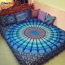 โบฮีเมียMandala Tapestryผ้าห่มพิมพ์แขวนผนังTapestriesอินเดียBiki Home DecorเตียงโซฟาBlanket148x200cm